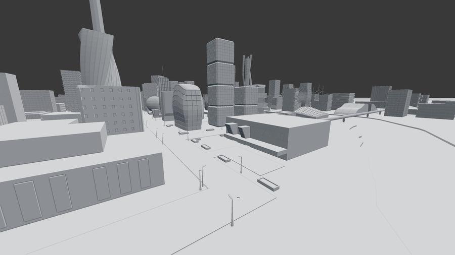 Город будущего royalty-free 3d model - Preview no. 17