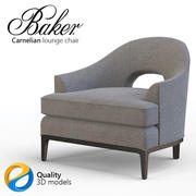 Baker Carnelian lounge chair 3d model