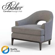 Baker Carnelian lounge stol 3d model