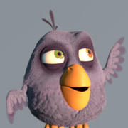 Birdy (Cartoon Bird Character) 3d model