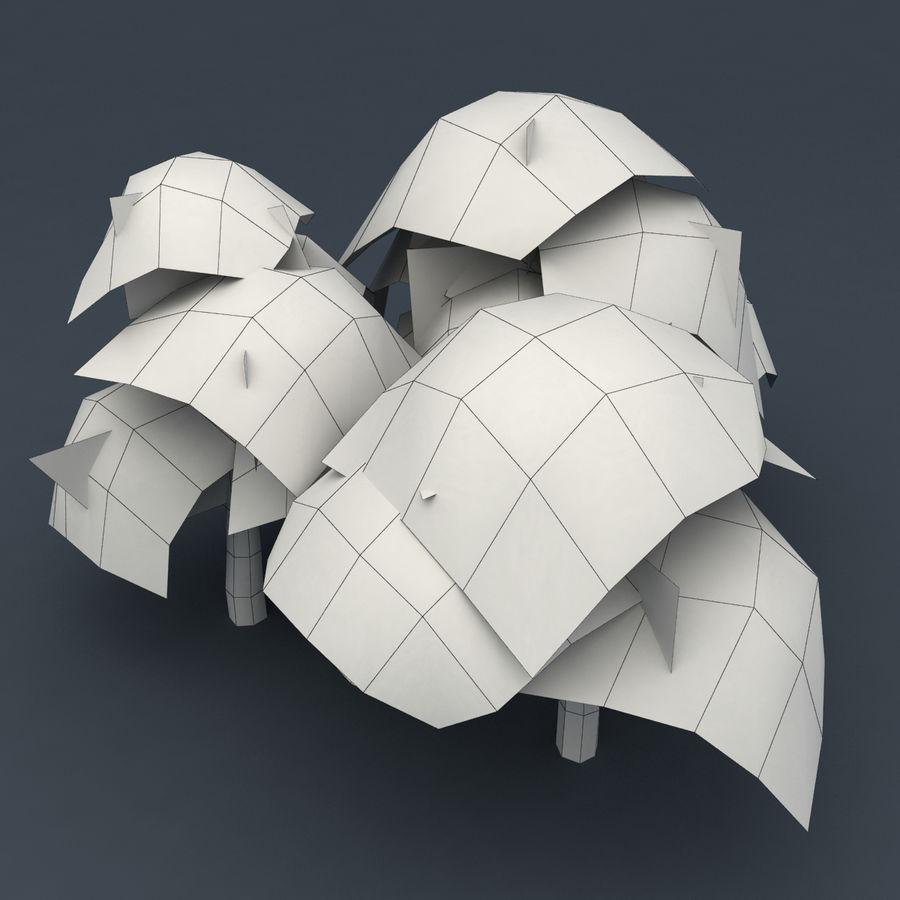 Ensemble d'arbres Sakura Lowpoly royalty-free 3d model - Preview no. 9