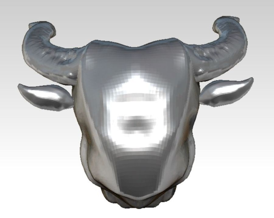 Bull head royalty-free 3d model - Preview no. 4