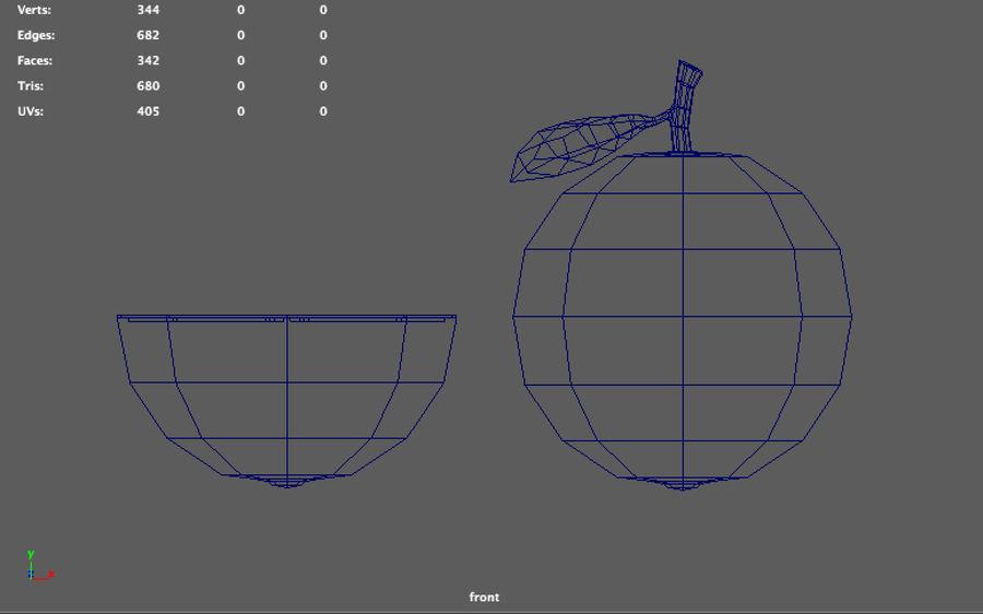 orange basse poly (jeu prêt) royalty-free 3d model - Preview no. 3