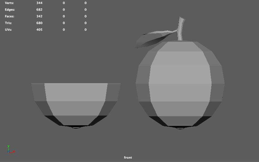 orange basse poly (jeu prêt) royalty-free 3d model - Preview no. 4