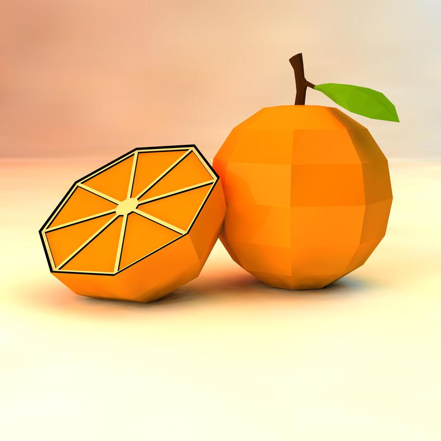 orange basse poly (jeu prêt) royalty-free 3d model - Preview no. 1