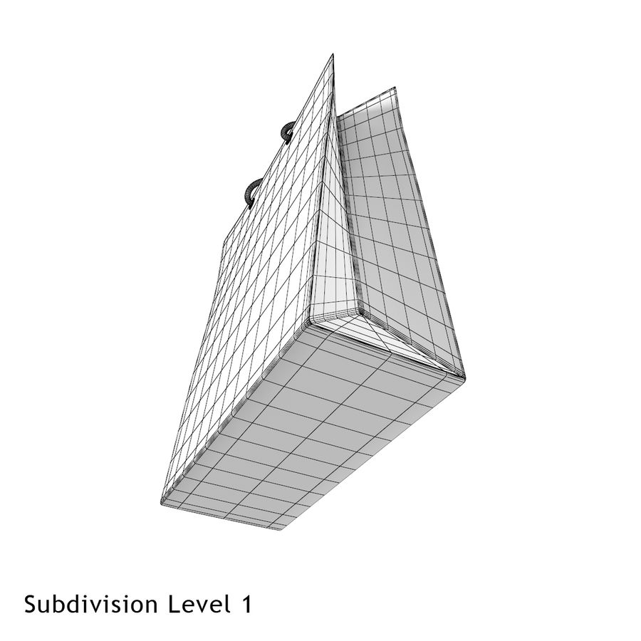 Shopping Bag royalty-free 3d model - Preview no. 13