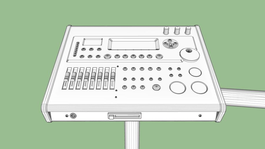 Elektronische drumkit: Roland V-Drums TD-20 royalty-free 3d model - Preview no. 32