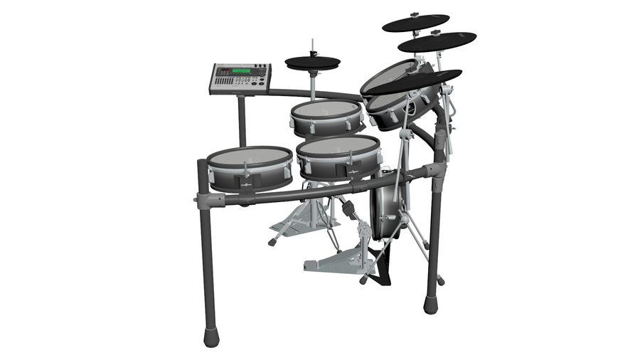 Elektronische drumkit: Roland V-Drums TD-20 royalty-free 3d model - Preview no. 9