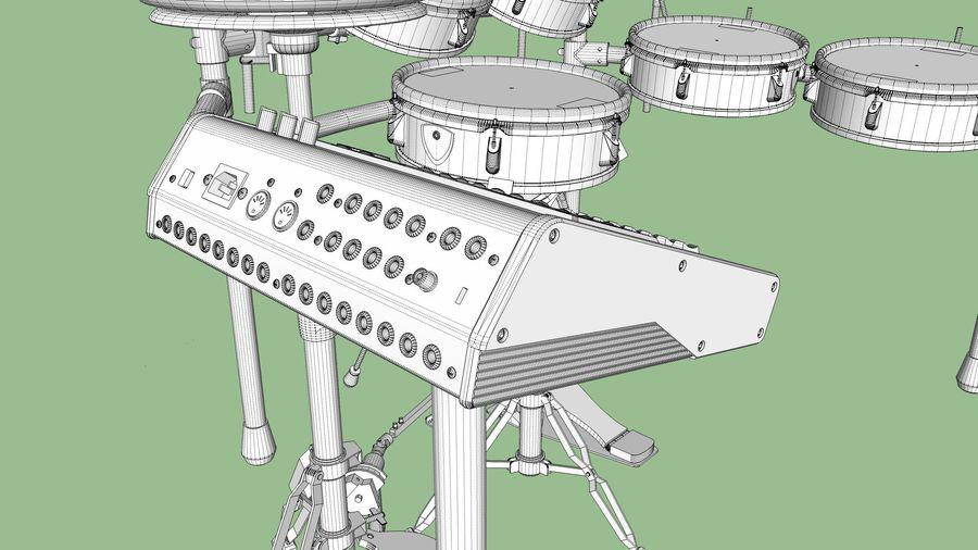 Elektronische drumkit: Roland V-Drums TD-20 royalty-free 3d model - Preview no. 34