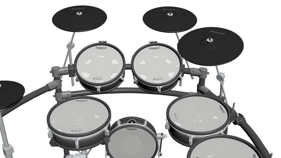 Elektronische drumkit: Roland V-Drums TD-20 royalty-free 3d model - Preview no. 10