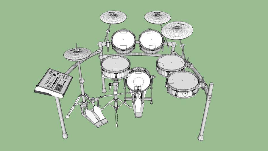 Elektronische drumkit: Roland V-Drums TD-20 royalty-free 3d model - Preview no. 25