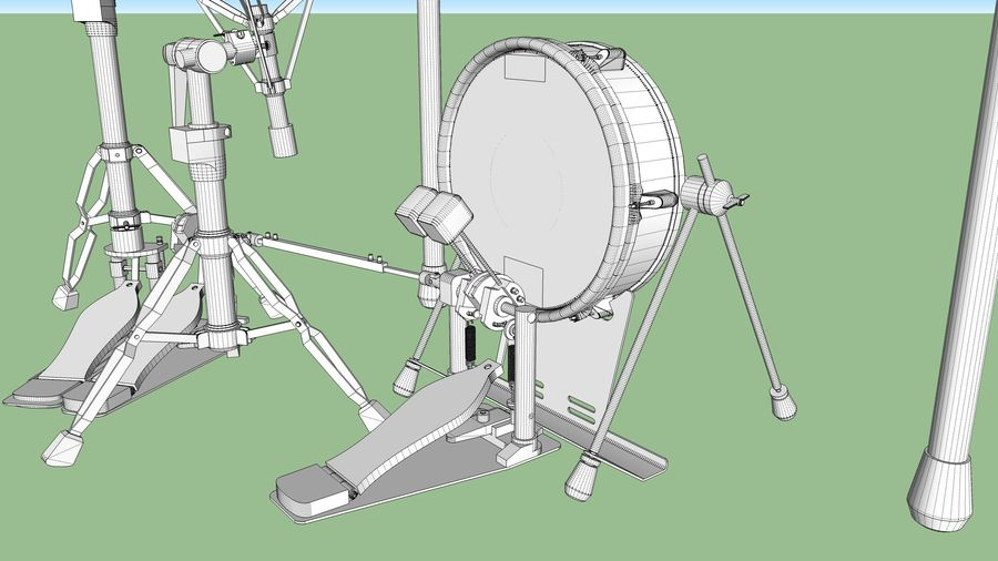 Elektronische drumkit: Roland V-Drums TD-20 royalty-free 3d model - Preview no. 35