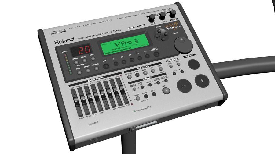 Elektronische drumkit: Roland V-Drums TD-20 royalty-free 3d model - Preview no. 13