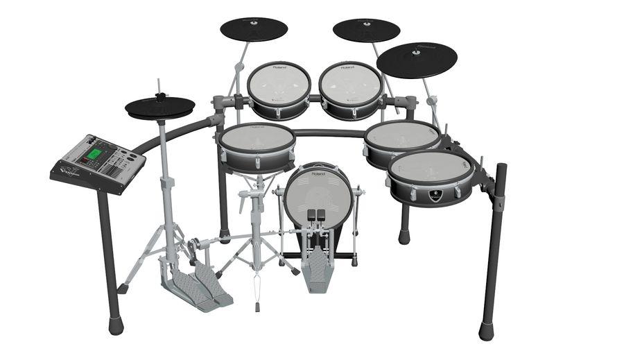 Elektronische drumkit: Roland V-Drums TD-20 royalty-free 3d model - Preview no. 2