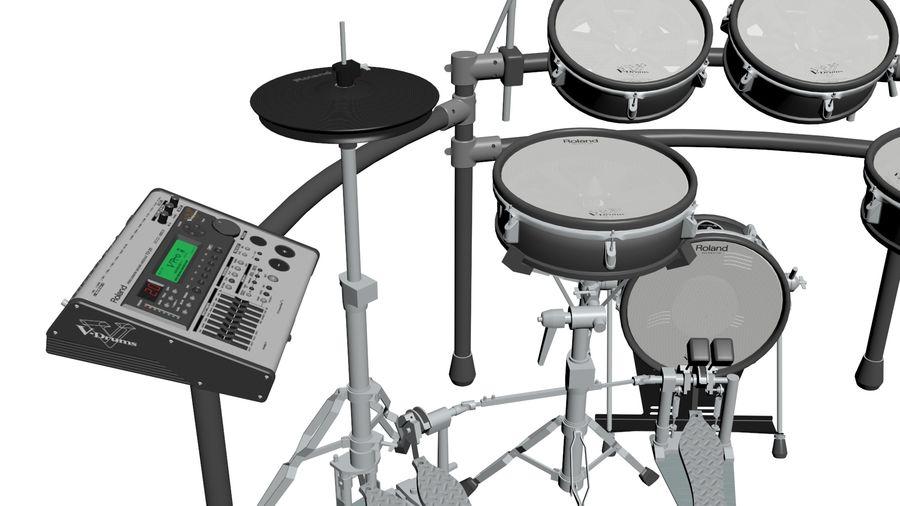 Elektronische drumkit: Roland V-Drums TD-20 royalty-free 3d model - Preview no. 11