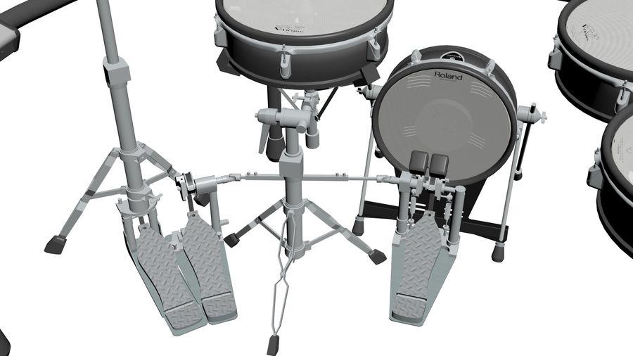 Elektronische drumkit: Roland V-Drums TD-20 royalty-free 3d model - Preview no. 21