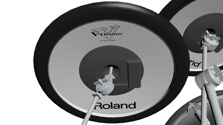 Elektronische drumkit: Roland V-Drums TD-20 royalty-free 3d model - Preview no. 19