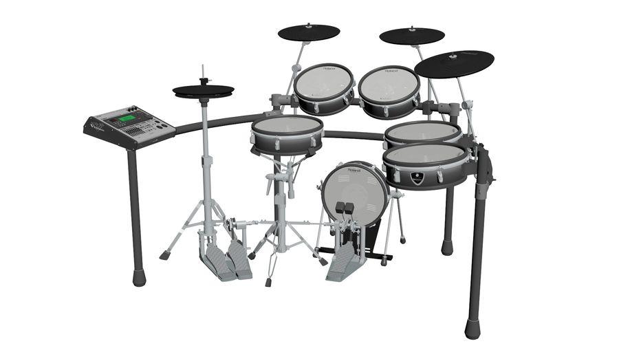 Elektronische drumkit: Roland V-Drums TD-20 royalty-free 3d model - Preview no. 3
