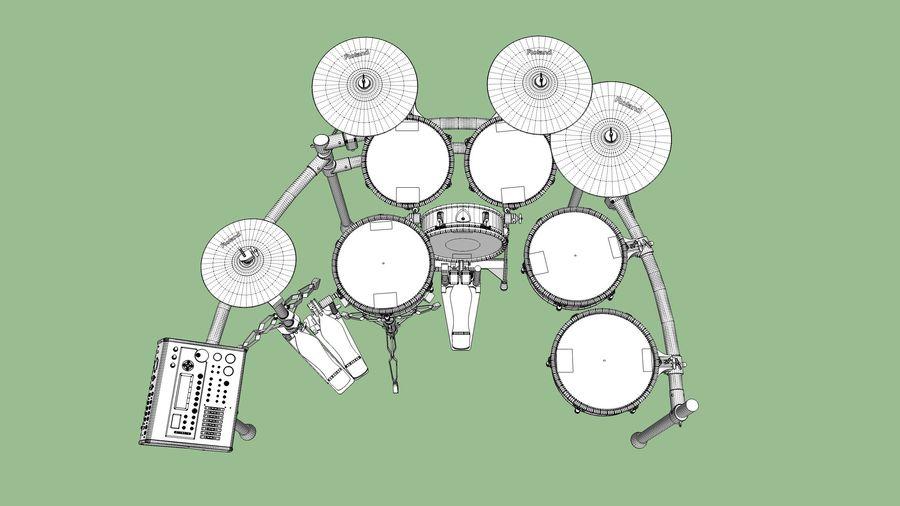Elektronische drumkit: Roland V-Drums TD-20 royalty-free 3d model - Preview no. 26