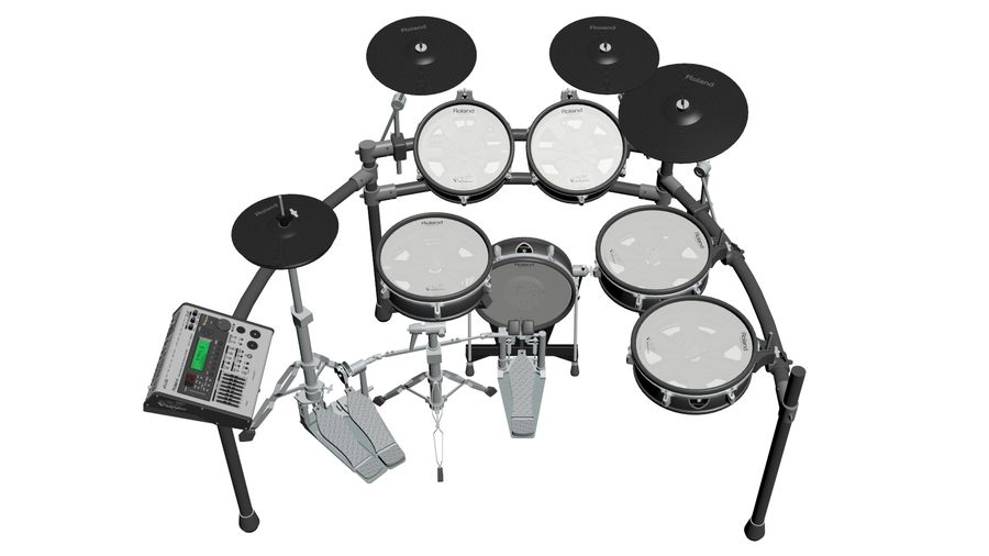 Elektronische drumkit: Roland V-Drums TD-20 royalty-free 3d model - Preview no. 4