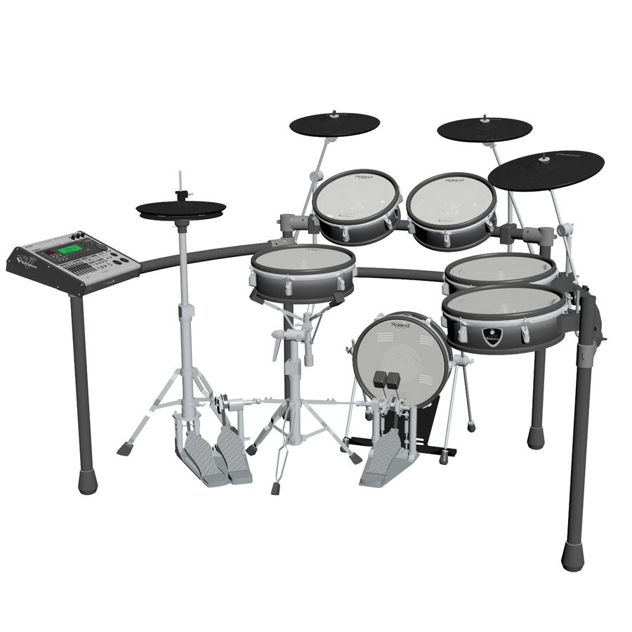 Elektronische drumkit: Roland V-Drums TD-20 royalty-free 3d model - Preview no. 1