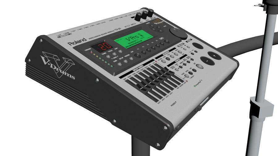 Elektronische drumkit: Roland V-Drums TD-20 royalty-free 3d model - Preview no. 12