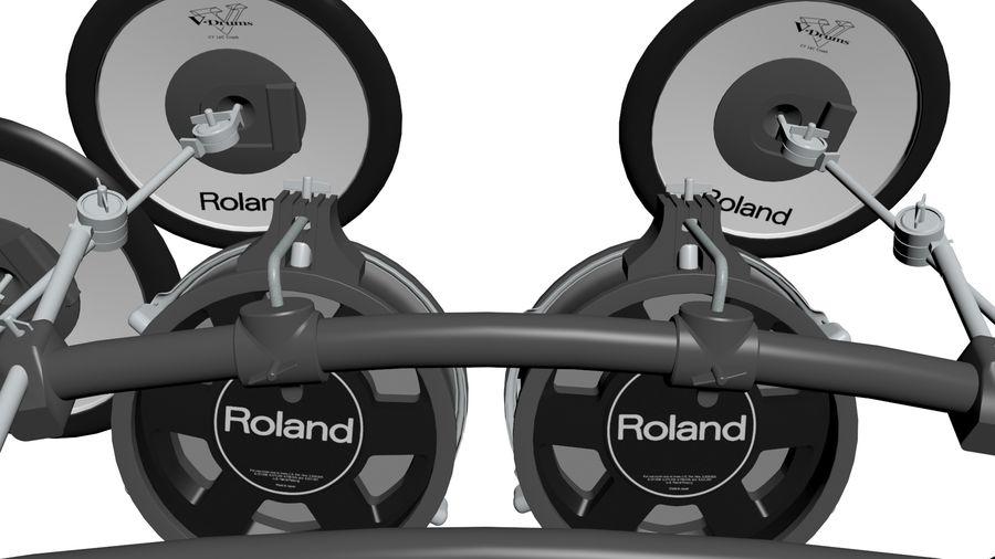 Elektronische drumkit: Roland V-Drums TD-20 royalty-free 3d model - Preview no. 17