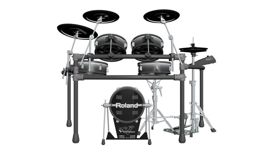 Elektronische drumkit: Roland V-Drums TD-20 royalty-free 3d model - Preview no. 5