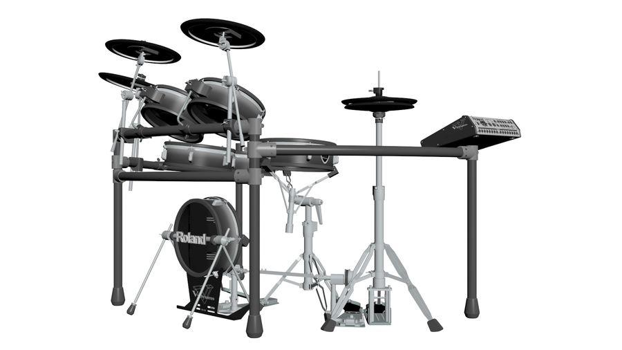 Elektronische drumkit: Roland V-Drums TD-20 royalty-free 3d model - Preview no. 7