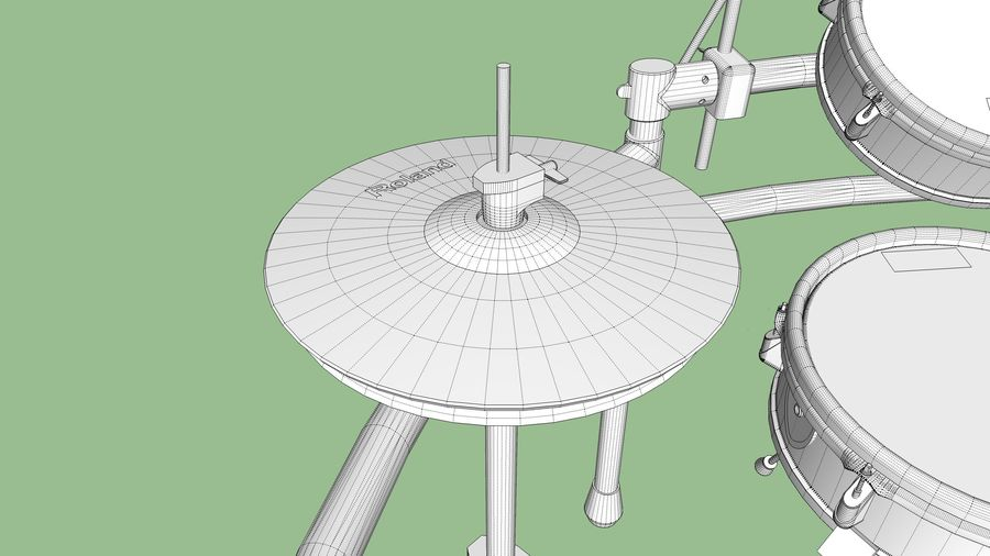 Elektronische drumkit: Roland V-Drums TD-20 royalty-free 3d model - Preview no. 29