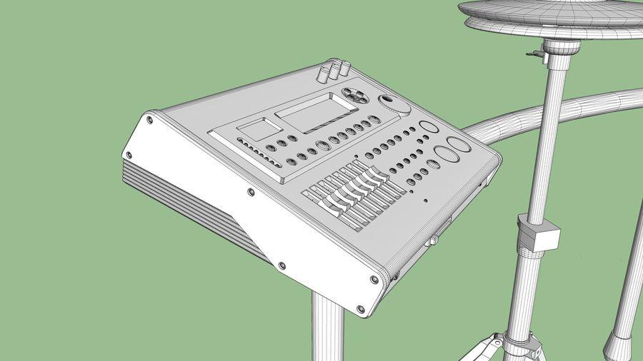 Elektronische drumkit: Roland V-Drums TD-20 royalty-free 3d model - Preview no. 33