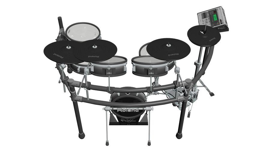 Elektronische drumkit: Roland V-Drums TD-20 royalty-free 3d model - Preview no. 6