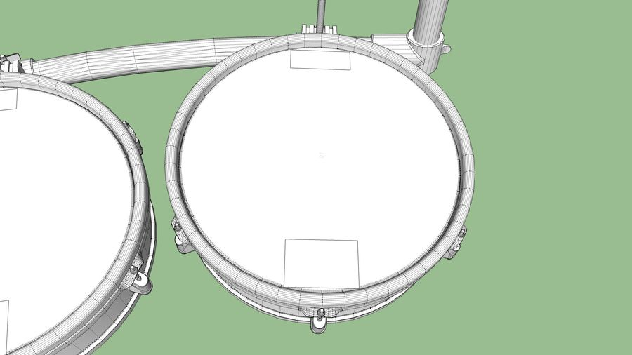 Elektronische drumkit: Roland V-Drums TD-20 royalty-free 3d model - Preview no. 43