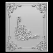 Celtic pattern corner element. 3d model