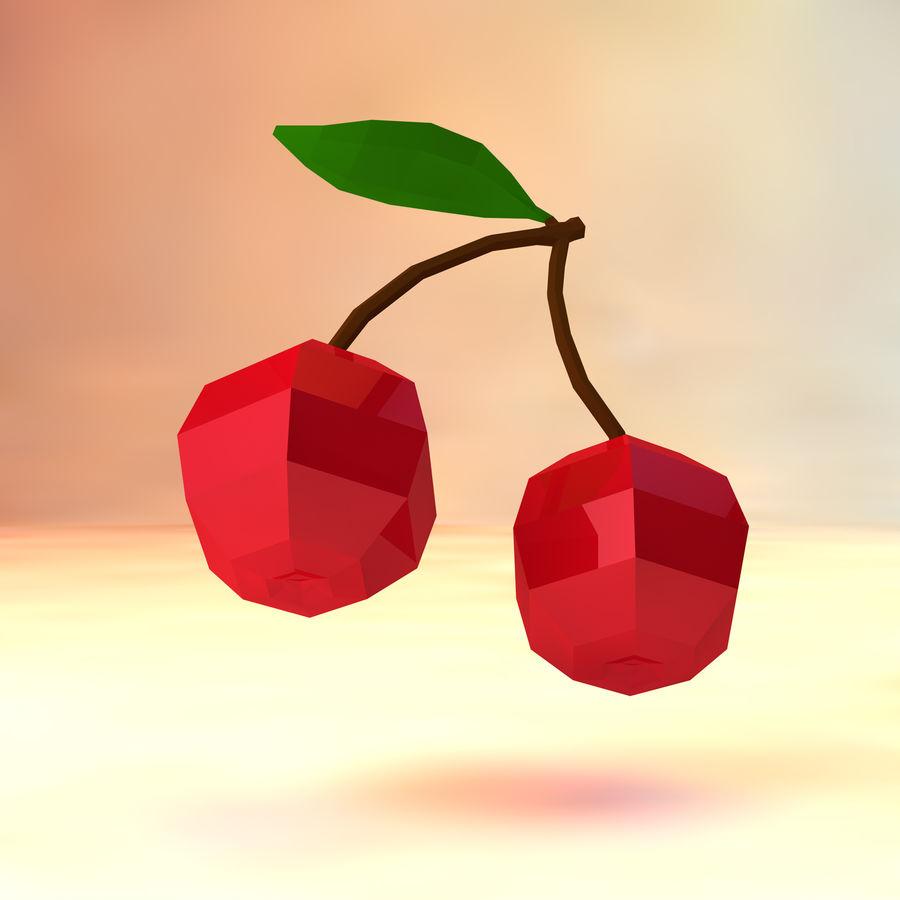 низкополигональная вишня (игра готова) royalty-free 3d model - Preview no. 3