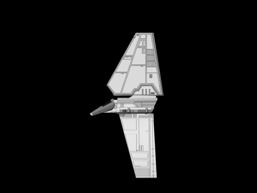 Lambda-Shuttle royalty-free 3d model - Preview no. 2