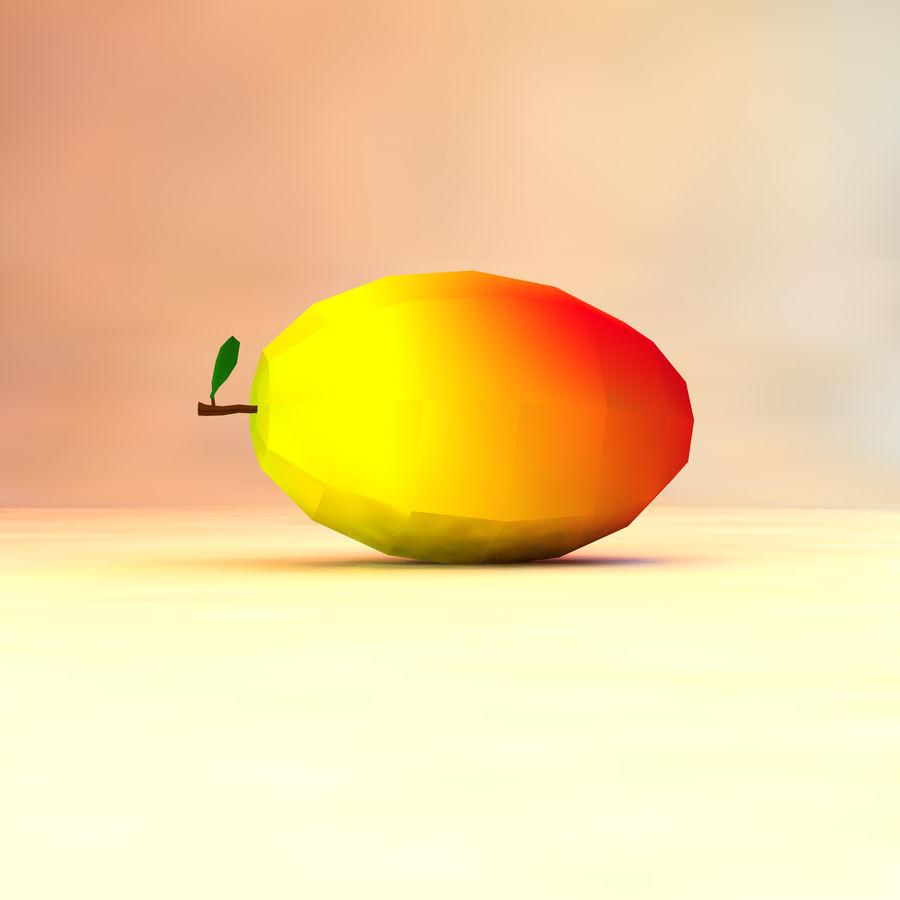 låg poly mango (spel redo) royalty-free 3d model - Preview no. 2