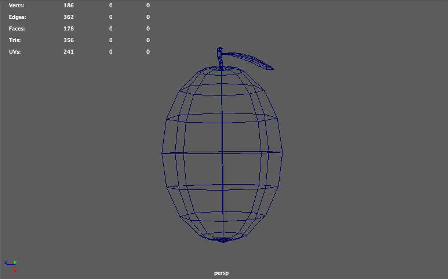 låg poly mango (spel redo) royalty-free 3d model - Preview no. 5