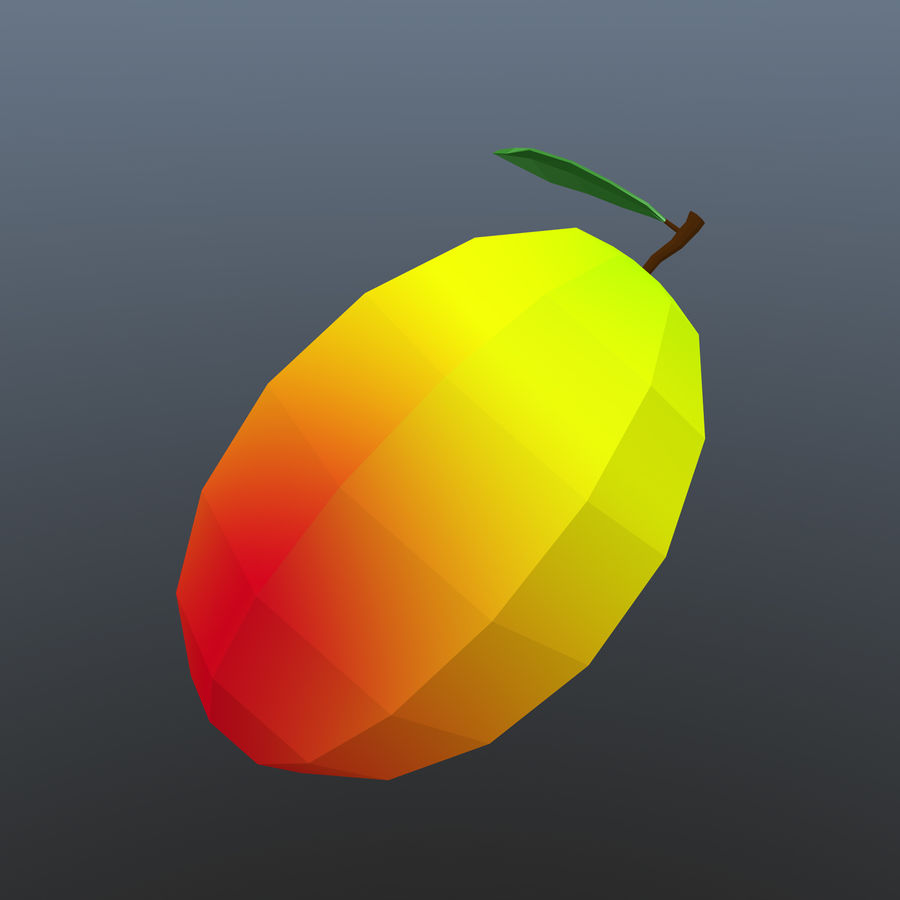 låg poly mango (spel redo) royalty-free 3d model - Preview no. 4