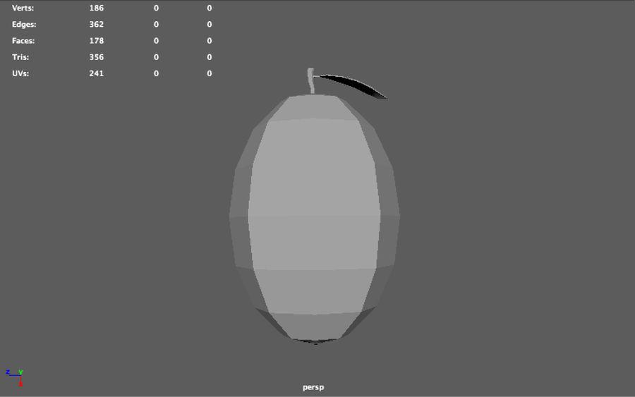 låg poly mango (spel redo) royalty-free 3d model - Preview no. 6