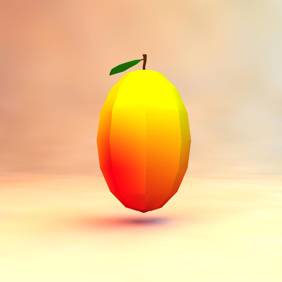 låg poly mango (spel redo) royalty-free 3d model - Preview no. 1