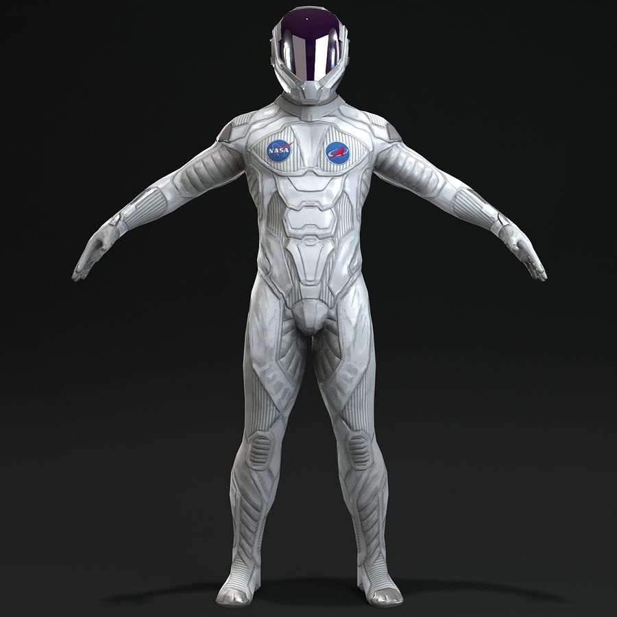 Astronaut-1(1) royalty-free 3d model - Preview no. 3