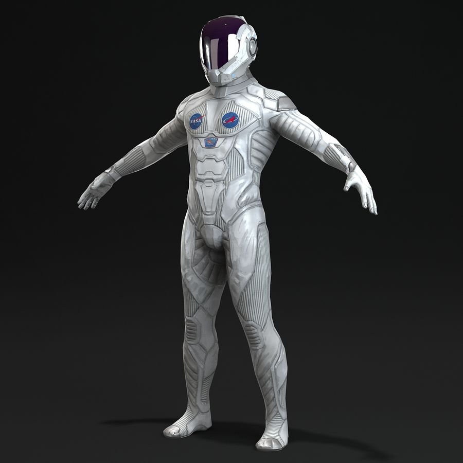 Astronaut-1(1) royalty-free 3d model - Preview no. 8