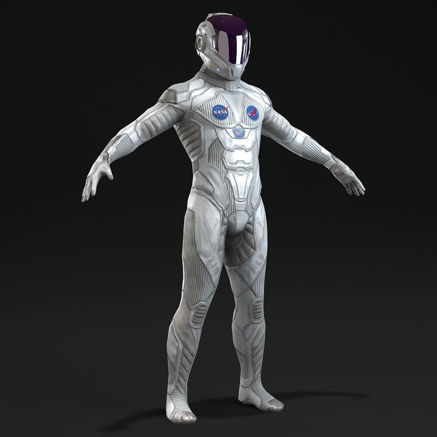 Astronaut-1(1) royalty-free 3d model - Preview no. 7