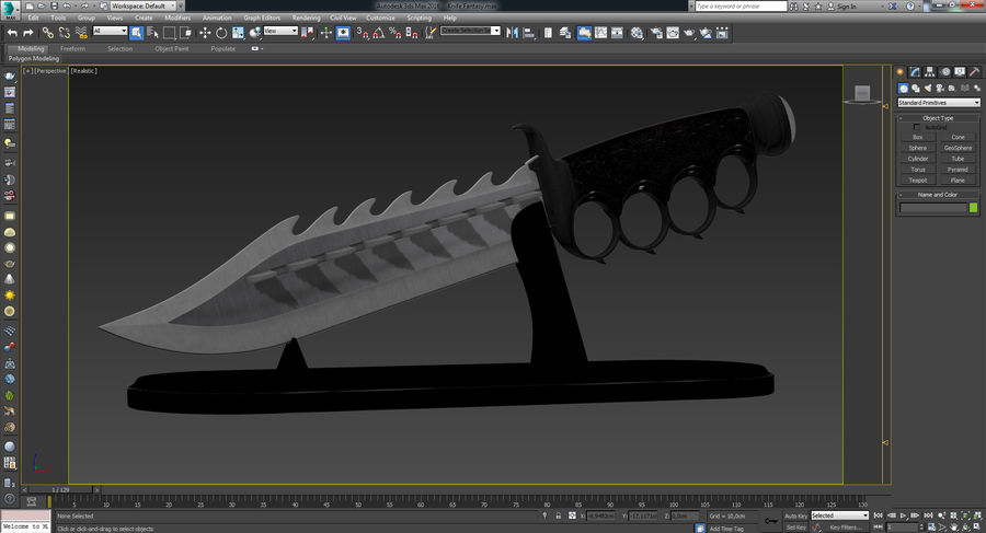 Knife Fantasy royalty-free 3d model - Preview no. 48