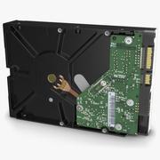 硬盘存储硬盘WD 1 TB 3d model