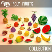 low poly fruits collection (game ready) 3d model