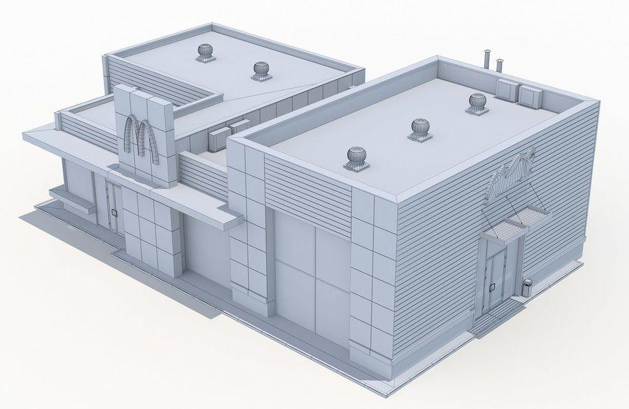 McDonalds restaurant 2 royalty-free 3d model - Preview no. 11