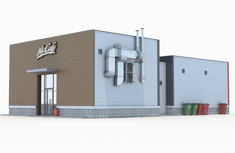 McDonalds restaurant 2 royalty-free 3d model - Preview no. 4