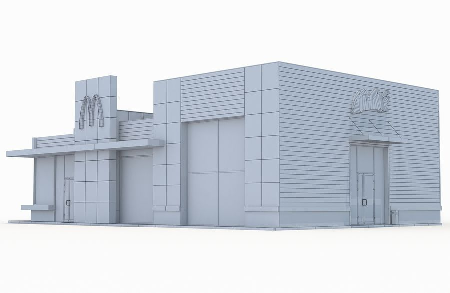 McDonalds restaurant 2 royalty-free 3d model - Preview no. 8